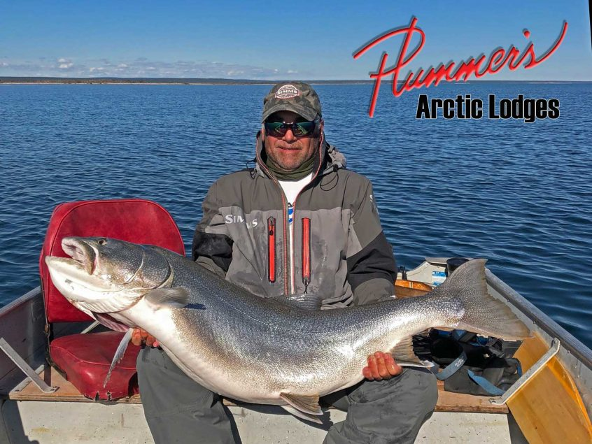65 Pound Lake Trout caught at Plummer's Lodge in NWT