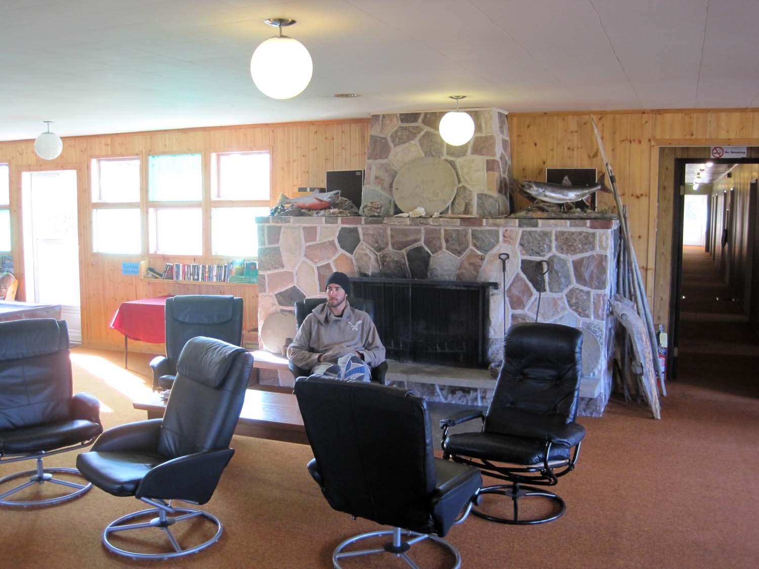 Relaxing at Trophy Lodge - Plummer's Arctic Lodges