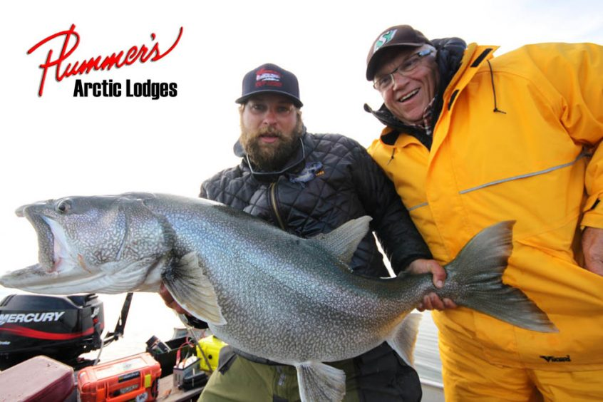 Lake trout sport fishing in Canada's arctic