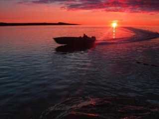 Plummers Arctic Fishing Lodges Scenic Views at Sunset
