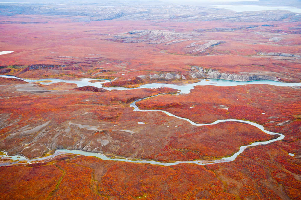 Fall Aerial View of Tree River, Northwest Territories