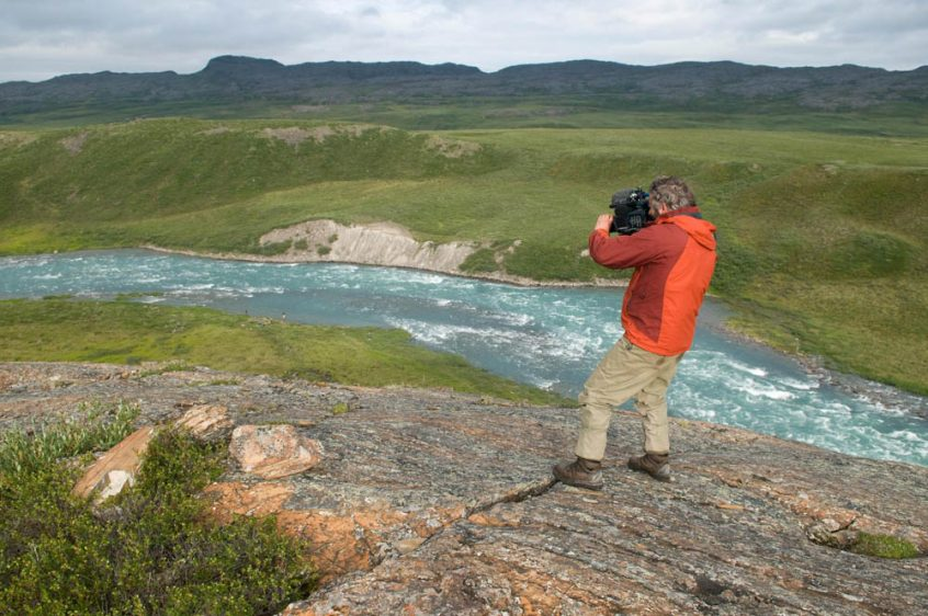Photographing Tree River - Plummer's Arctic Fishing Lodges