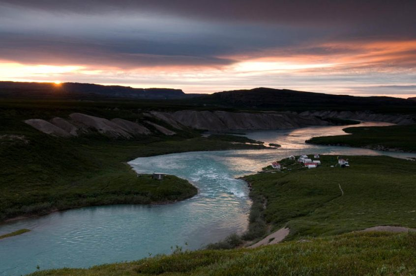 Sunset on Tree River - Plummer's Arctic Fishing Lodges