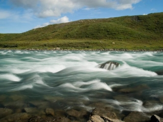 Rapids on Tree River - Plummer's Arctic Fishing Lodges