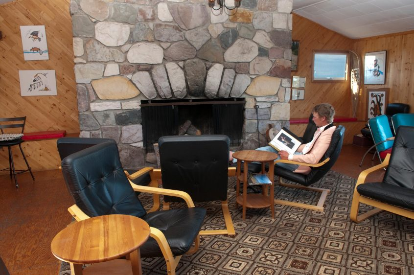 Great Bear Lake Lodge Fireplace