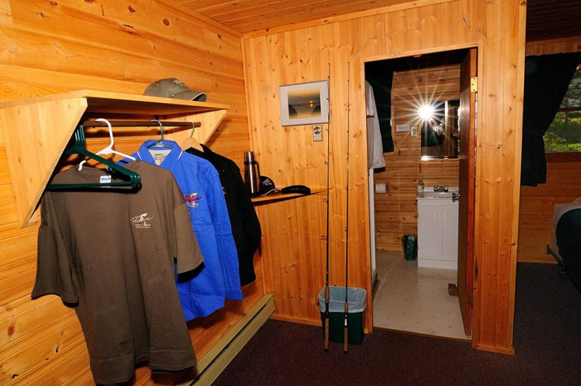 Plummer's Great Slave Lake Lodge Guest Cabin Entrance