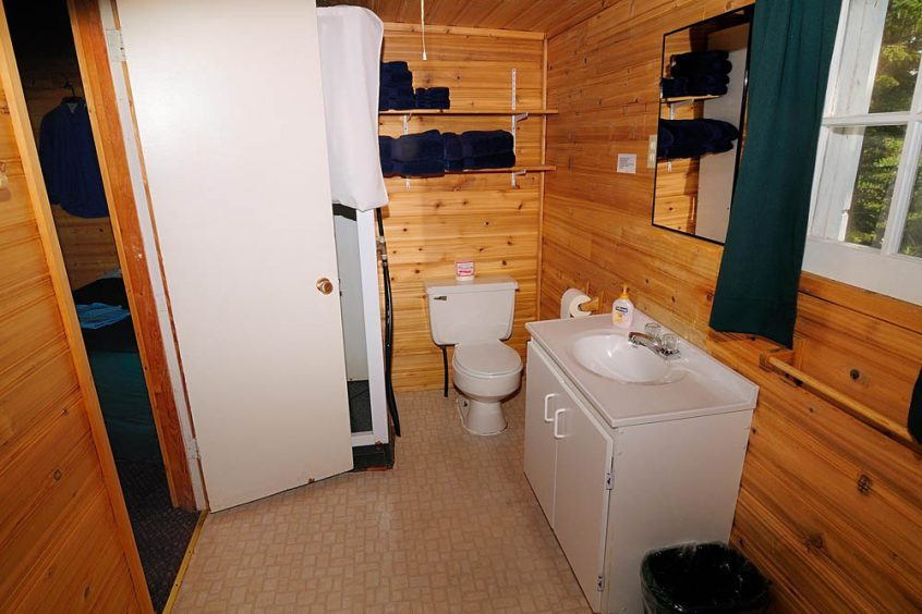 Plummer's Great Slave Lake Lodge Guest Cabin Washroom