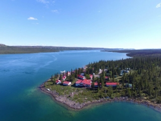 Plummer's Great Slave Lake Lodge Aerial View