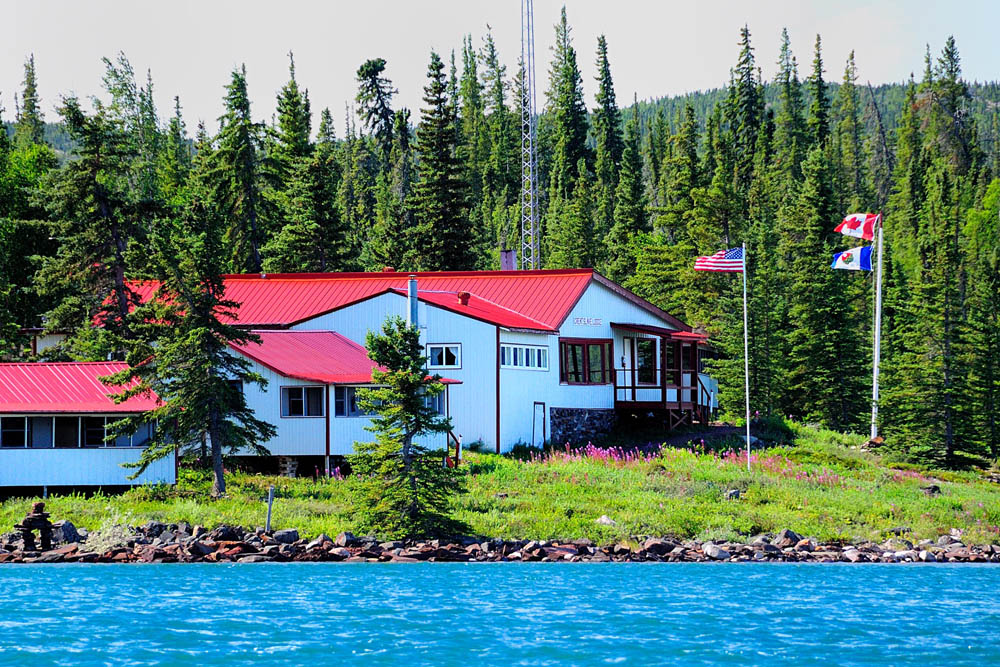 Plummer's Great Slave Lake Lodge from Lake