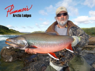 Northern river fishing for arctic char