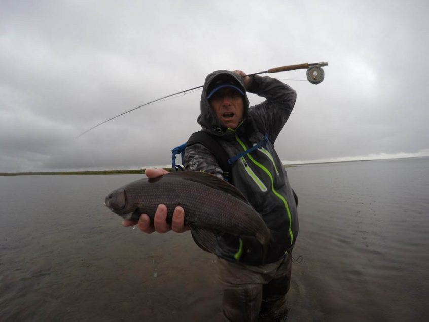 Fly fishing for arctic grayling in Canada's North