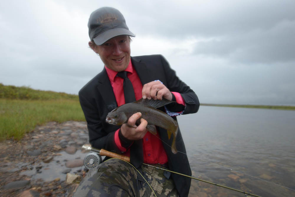 Fly fishing for arctic grayling in Northwest Territories